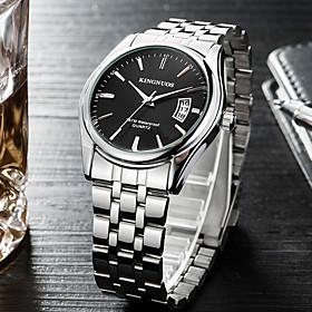 Men's Sport Watch Military Watch Wrist Watch Quartz Charm Calendar / date / day Analog White Black Blue / One Year / Stainless Steel / Stainless Steel