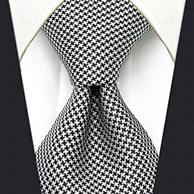 Men's Party / Work / Basic Necktie - Color Block / Houndstooth / Jacquard Basic