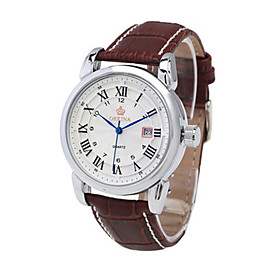 Men's Fashion Watch Mechanical Watch Quartz Automatic self-winding Analog Gold Silver / Leather