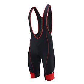 Arsuxeo Men's Cycling Bib Shorts Bike Bib Shorts Pants Bottoms Quick Dry Sports Solid Color Spandex Black / Red / Blue Road Bike Cycling Clothing App