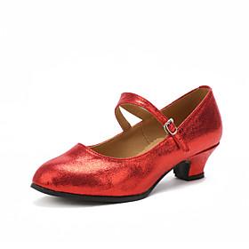 Women's Modern Shoes Heel Customized Heel Black / Red / Gold / Indoor / EU42