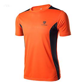 Men's Running T-Shirt Workout Shirt 1 pc Running Camping / Hiking Exercise  Fitness Sportswear Activewear High Elasticity