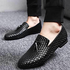 Men's Loafers  Slip-Ons Dress Shoes Business / Casual Daily Party  Evening Outdoor Walking Shoes Synthetics Non-slipping Wear Proof Black / Blue / Grey Fall /