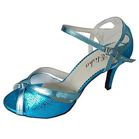 Women's Latin Shoes Sandal Customized Heel Synthetic Bronze / Black / Red / Indoor / EU39