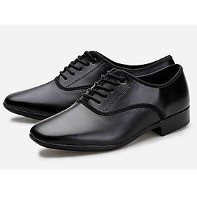 Men's Latin Shoes / Ballroom Shoes Cowhide Heel Customizable Dance Shoes Black / Practice Category:Ballroom Shoes,Latin Shoes; Upper Materials:Cowhide; Gender:Men's; Style:Heel; Outsole Materials:Rubber; Occasion:Practice; Customized Shoes:Customizable; Brand:Shall We; Listing Date:07/07/2017; Foot Length:; SizeChart1_ID:2:482; Size chart date source:Provided by Supplier.; Base Categories:Dance Shoes,Shoes,Apparel  Accessories
