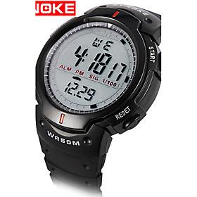 Men's Sport Watch Military Watch Smartwatch Quartz Digital Charm Water Resistant / Waterproof Digital Black Gray / Silicone / Two Years / Alarm / Calendar / da