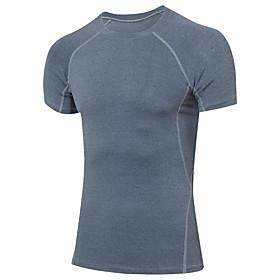 Men's Elastane Running T-Shirt Running Shirt Running Base Layer Yoga Running Exercise  Fitness Quick Dry Fitness, Running  Yoga Sportswear Compression Clothing