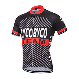 Men's Short Sleeve Cycling Jersey White / Black / Red Floral Botanical Bike Shirt Sweatshirt Jersey Quick Dry Sports Polyester Coolmax 100% Polyester Clothing