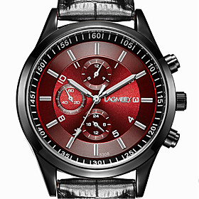 Men's Wrist Watch Quartz Stainless Steel Black 30 m Casual Watch Analog Classic Casual Fashion Dress Watch - Black / White Black Black / Red One Year Battery L