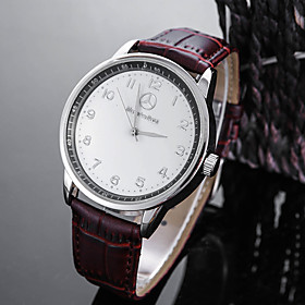 Men's Sport Watch Wrist Watch Quartz Charm Water Resistant / Waterproof Analog White Black / One Year / Stainless Steel / Leather