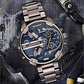 Men's Casual Watch Sport Watch Fashion Watch Quartz Luxury Calendar / date / day Analog Black / Gold Black / Silver Blue / Stainless Steel / # / # / Two Years