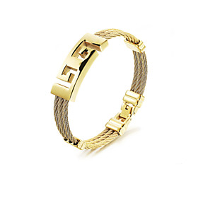 Men's Bracelet Bangles Rock Gothic Fashion Stainless Steel Bracelet Jewelry Gold For Party Birthday Party / Evening Gift Evening Party