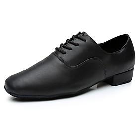Men's Dance Shoes Latin Shoes / Ballroom Shoes / Line Dance Sneaker Customized Heel Customizable Black / Indoor / EU43