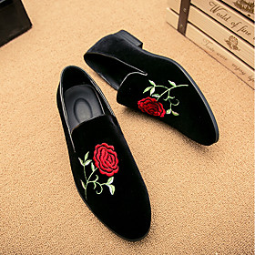 Men's Loafers  Slip-Ons Suede Shoes Comfort Shoes Chinoiserie Casual Suede Black Spring / Fall / EU42