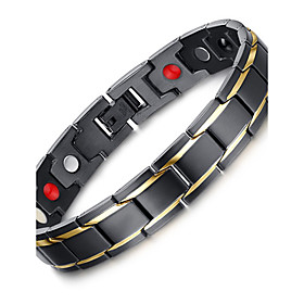 Men's Chain Bracelet Luxury Vintage Bohemian Punk Stretch Stainless Steel Bracelet Jewelry Black For Christmas Christmas Gifts Party Special Occasion Anniversa