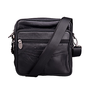 Men's Bags PU Leather Crossbody Bag for Outdoor / Office  Career Black / Brown