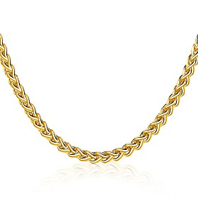 Men's Women's Choker Necklace Geometrical Twisted Foxtail chain Statement Luxury Natural Gothic Gold Plated Yellow Gold 18K Gold Gold Necklace Jewelry For Chri