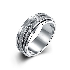 Men's Women's Band Ring Groove Rings Silver Titanium Line Personalized Luxury Classic Christmas Wedding Jewelry