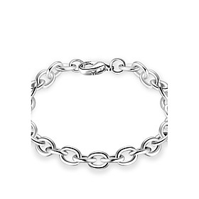 Men's Women's Chain Bracelet Geometrical Personalized Luxury Classic Simple Style Sterling Silver Bracelet Jewelry Gold / Silver For Christmas Party Holiday Wo