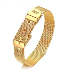 Men's Chain Bracelet Geometrical Simple Style Alloy Bracelet Jewelry Gold / Silver For Wedding Daily Masquerade Engagement Party Prom