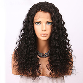 Human Hair Glueless Lace Front Lace Front Wig style Brazilian Hair Curly Wig 150% Density with Baby Hair Natural Hairline For Black Women Women's Long Human Ha