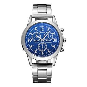 Men's Sport Watch Aviation Watch Quartz Charm Water Resistant / Waterproof Analog White Blue / One Year / Stainless Steel / Stainless Steel