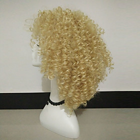 Synthetic Wig Curly Curly Wig Blonde Medium Length Blonde Synthetic Hair Women's Blonde