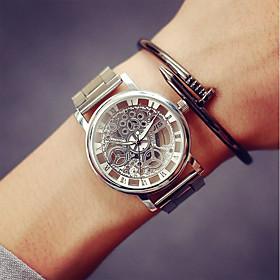 Men's Skeleton Watch Wrist Watch Gold Watch Quartz Stainless Steel Silver / Gold Casual Watch Analog Charm - Gold Silver