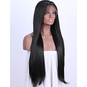 Synthetic Lace Front Wig Straight Straight Lace Front Wig Medium Length Long Black#1B Synthetic Hair Women's Black