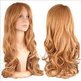 Cosplay Costume Wig Synthetic Wig Curly Curly Wig Blonde Long Brown Synthetic Hair Women's Blonde