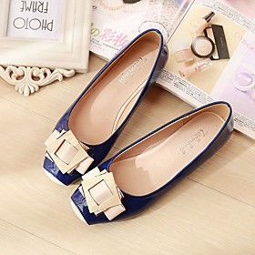 Women's Flats Glitter Crystal Sequined Jeweled Flat Heel Square Toe Pigskin Comfort Spring / Fall Almond / Pink / Blue / EU41