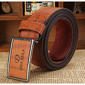 Men's Party / Work / Active Leather Waist Belt - Solid Colored