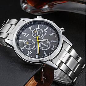 Men's Wrist Watch Quartz Stainless Steel Silver Water Resistant / Waterproof Analog Charm - Black Orange Blue