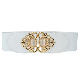 Women's Irregular Style Alloy Skinny Belt - Solid Colored Fashion / PU / Rayon