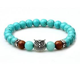 Men's Turquoise Bead Bracelet Animal Chakra equilibrio Turquoise Bracelet Jewelry Turquoise For Street Going out