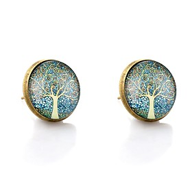 Women's Stud Earrings Asian Earrings Jewelry Bronze For Date Street 2pcs
