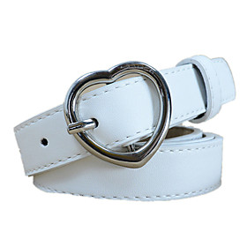 Women's Active / Basic Wide Belt - Solid Colored / PU