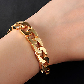 Men's Bracelet Figaro Bracelet Cuban Link Thick Chain Box Chain Fashion Hip-Hop Dubai Hip Hop 18K Gold Plated Bracelet Jewelry Gold / Silver For Casual Daily W