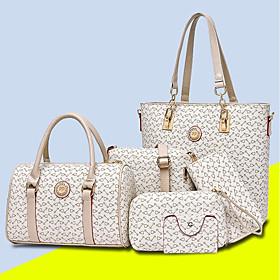 Women's Pattern / Print PU Bag Set Bag Sets 5 Pieces Purse Set Sky Blue / Purple / Blushing Pink