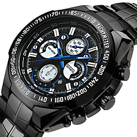 Men's Sport Watch Military Watch Wrist Watch Quartz Classic Water Resistant / Waterproof Analog White  / Silver Black Black / White / Two Years / Stainless Ste