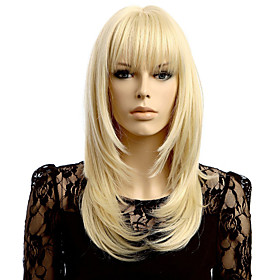 Synthetic Wig Wavy Wavy Wig Blonde Short Blonde Synthetic Hair Women's Natural Hairline Blonde