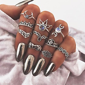 Knuckle Ring Silver Metal Alloy Ladies Vintage One Size / Women's / Hamsa Hand