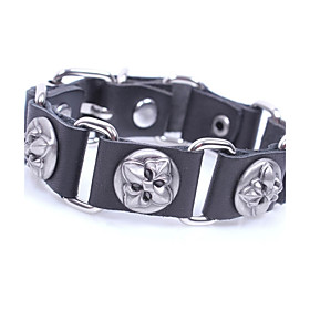 Men's Bracelet Link Bracelet Rivet Vintage Rock Leather Bracelet Jewelry Black / Coffee For Casual Club