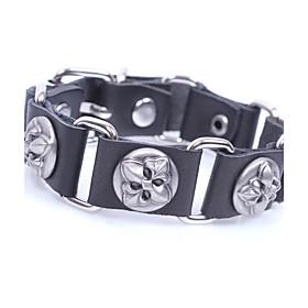 Men's Bracelet Link Bracelet Rivet Vintage Rock Leather Bracelet Jewelry Black / Coffee For Casual Club