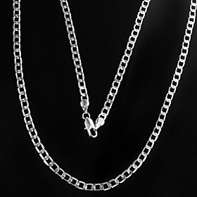 Men's Chain Necklace Mariner Chain Alloy Silver Necklace Jewelry For Christmas Gifts Daily