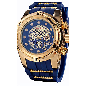 Men's Watch Boxes Casual Watch Sport Watch Quartz Classic Water Resistant / Waterproof Analog Black / Gold Black / Blue Black / Two Years / Stainless Steel / S