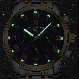 Men's Military Watch Bracelet Watch Wrist Watch Automatic self-winding Three-eye Six-needle Luxury Water Resistant / Waterproof Analog Gold / White Black / Sil