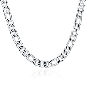 Men's Chain Necklace Mariner Chain Sweet Fashion Copper Silver Plated Silver Necklace Jewelry For Gift Daily