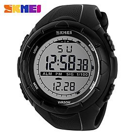 Men's Women's Sport Watch Digital Watch Digital Silicone Black 30 m Water Resistant / Waterproof Calendar / date / day Noctilucent Digital Casual Fashion Elega