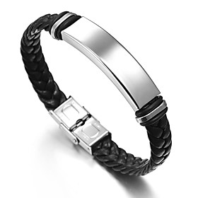 Men's Link Bracelet Button Asian Vintage Hemp Rope Bracelet Jewelry Silver For Daily Formal / Stainless Steel